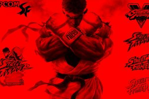 street capcom ryu (street fighter) red