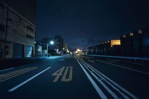 street japan night road city