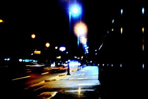 street photography street light night city