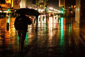 street reflection people street light brazil urban