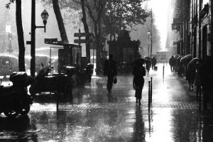 street urban city rain paris photography umbrella building cityscape monochrome