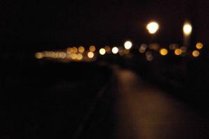 street urban lights bokeh