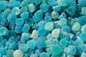 sugar  blue candy sweets
