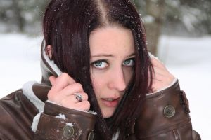 suicide girls cold leather jackets women blue eyes redhead
