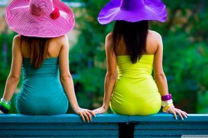 summer hat colorful back