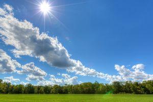 sun clouds landscape nature