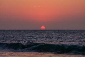 sun sea orange sky landscape horizon