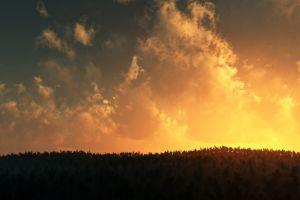 sunlight clouds landscape sky