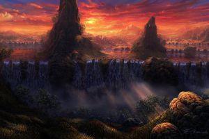 sunlight fantasy art landscape nature sky artwork