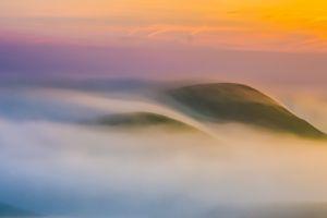sunset mountains nature clouds landscape