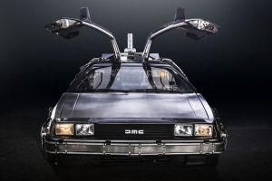 supercars delorean back to the future time travel