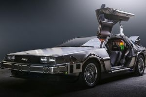 supercars time travel back to the future delorean