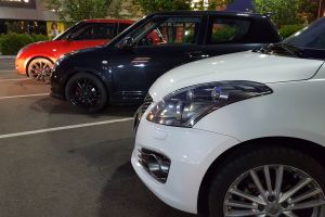 suzuki swift sport car kei car parking lot
