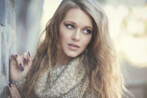 sweater model portrait women face