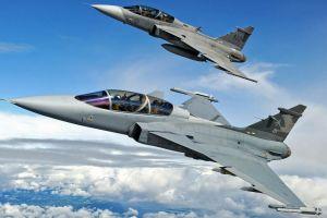 swedish military jas-39 gripen military aircraft