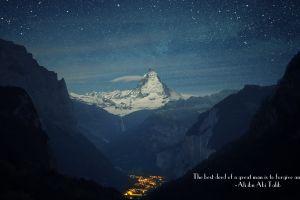 switzerland matterhorn town mountains ali ibn abi talib quote islam stars zermatt mountain pass