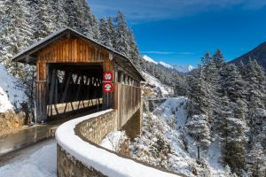 switzerland snow swiss alps alps bridge