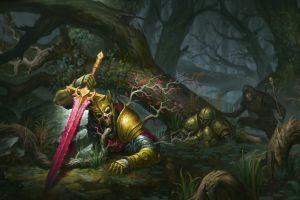 sword fantasy art artwork skull
