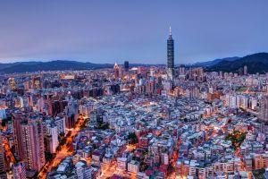 taipei 101 cityscape taiwan city