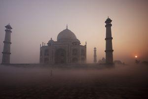taj mahal tropical mist landscape temple india nature hinduism