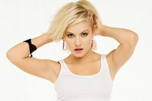 tank top model elisha cuthbert hands in hair women blonde looking at viewer