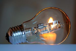 technology glass lightbulb