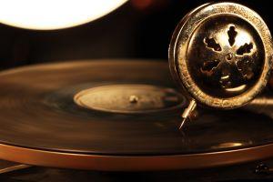 technology vinyl motion blur gramophone music circle playing vintage