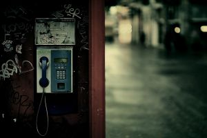 telephone old urban city