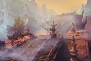 temple palace artwork fantasy art