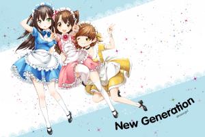 the [emailprotected] : cinderella girls maid outfit long hair shibuya rin shimamura uzuki anime girls honda mio