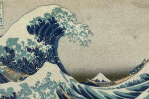 the great wave off kanagawa wood block mount fuji hokusai