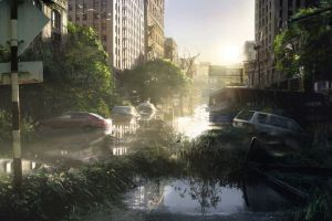 the last of us apocalyptic wreck video game art video games ruin vehicle car