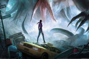 the secret world video games sword katana apocalyptic concept art fantasy art women