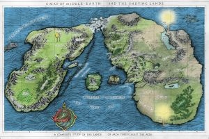 the silmarillion the lord of the rings middle-earth j. r. r. tolkien map