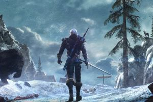 the witcher 3: wild hunt looking into the distance geralt of rivia