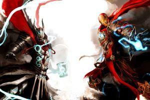 thor fantasy art iron man