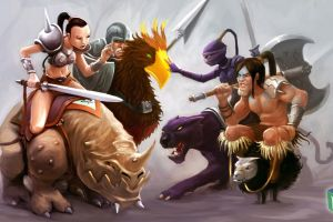 tibia creature pc gaming druids drawing rpg warrior