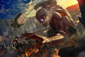 titans armored titan mikasa ackerman medieval shingeki no kyojin