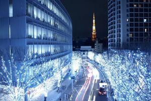 tokyo architecture photography city city lights long exposure blue urban cityscape building