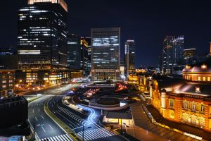 tokyo night street street light city