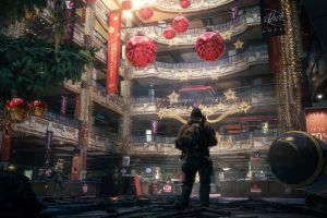 tom clancy's the division video games christmas tree christmas apocalyptic christmas lights