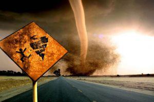tornado road storm sign digital art