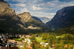 town village fjord norway