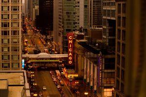 traffic street chicago urban city