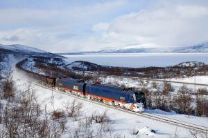 train electric locomotives freight train snow winter