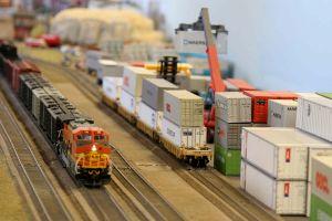 train ports container tilt shift toys