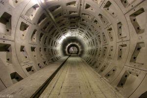 train tunnel hallway