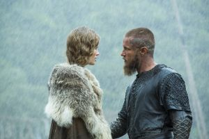 travis fimmel alyssa sutherland   vikings (tv series) vikings aslaug
