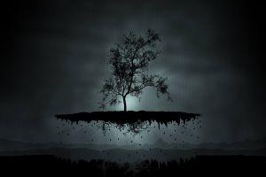 trees nature digital art