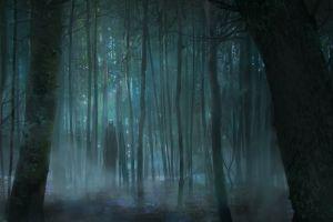 trees spooky fantasy art artwork swamp horror